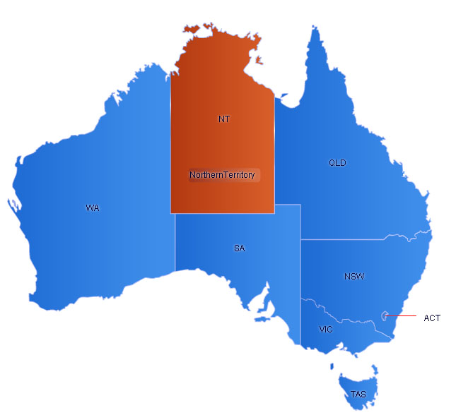 Australia Flash Map(W/Capital)
