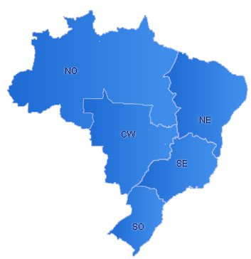 Brazil Flash Map(Regions)