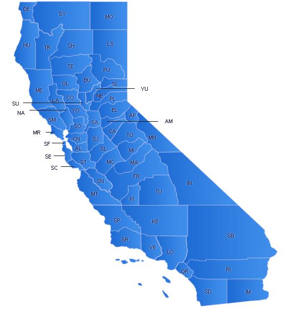 California Flash Map