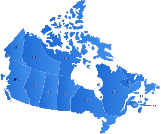 Canada Flash Map