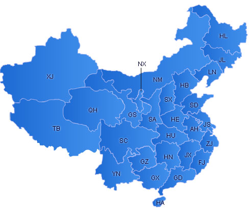 China Flash Map