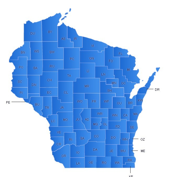 Wisconsin Flash Map