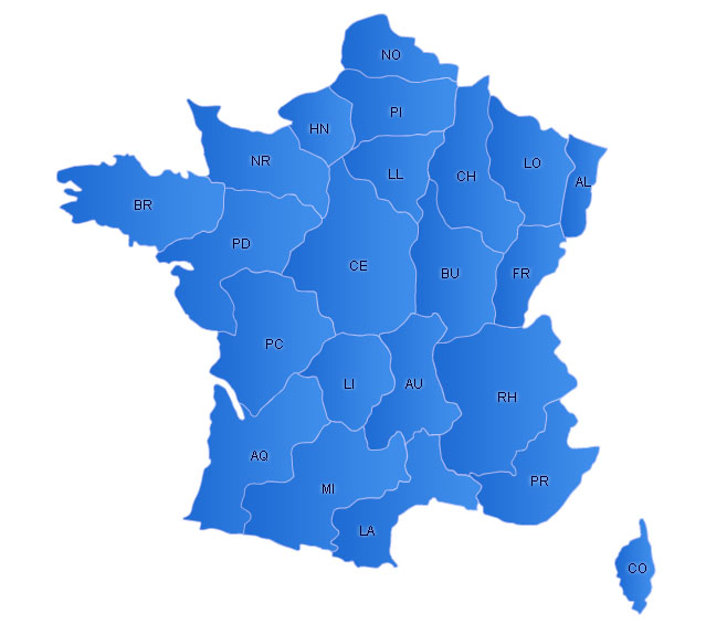 France Flash Map