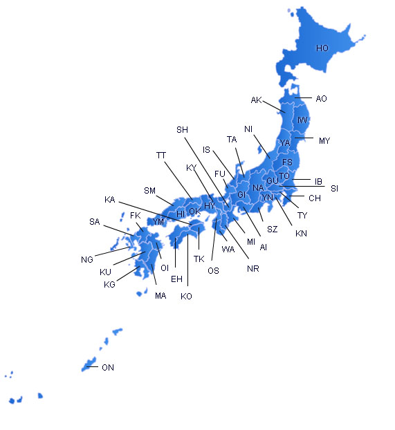 Japan Flash Map