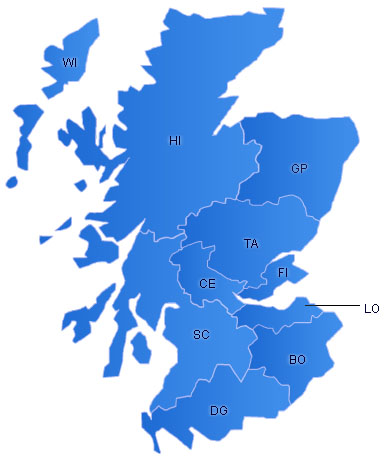 Scotland Flash Map(Regions)
