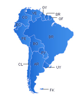 SouthAmerica Flash Map
