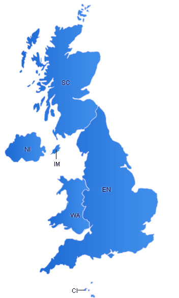 UK Flash Map(With Islands)