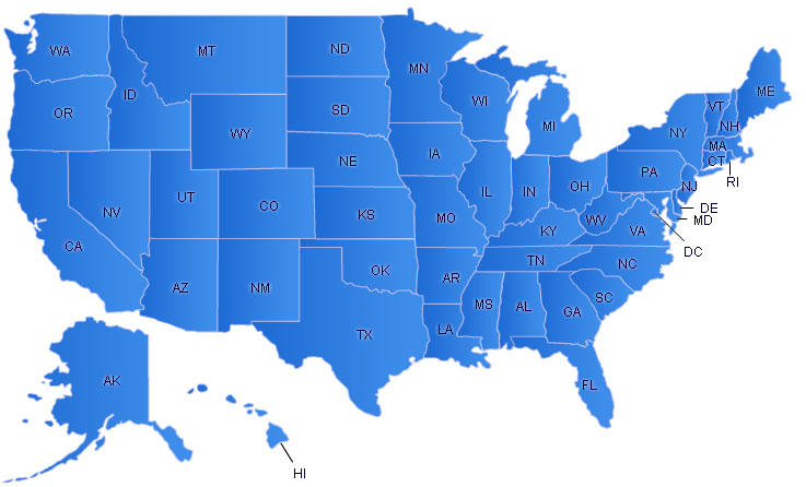 USA Flash Map Free Flash Map Driven By XML Full Customized - Free interactive us map